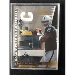 2007 DONRUSS PLAYOFF FOOTBALL #251 JaMARCUS RUSSELL AUTO ROOKIE PREMIERE MATERIALS AUTO