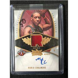 2008 Fleer Hot Prospects #134 Mario Chalmers Miami Heat Auto RC Basketball Card