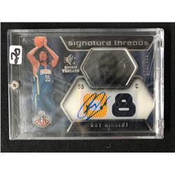 2008-09 SP ROOKIE THREADS BASKETBALL #77 ROY HIBBERT AUTO CARD