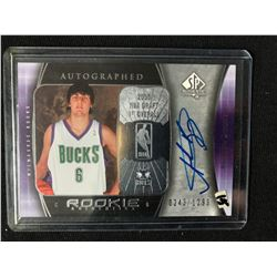 2005-06 UPPER DECK SP AUTHENTIC #91 ANDREW BOGUT ROOKIE AUTO BASKETBALL CARD