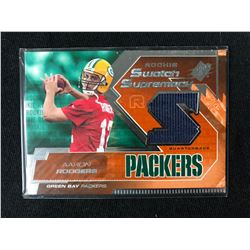 2005 UD SPx Rookie Swatch Supremacy Aaron Rodgers Game Used Jersey #RS-AR