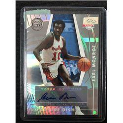 2005-06 Topps First Row Signature Dish #SD-EM Earl Monroe Auto Basketball Card