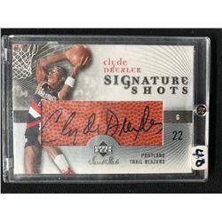 2005 Upper Deck Sweet Shot Signature Shots Autographed #SS-CD Clyde Drexler