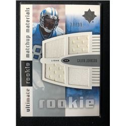 2007 Ultimate Collection Rookie Materials Matchup Calvin Johnson