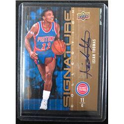 2009-10 UPPER DECK BASKETBALL #148 ISIAH THOMAS AUTO CARD