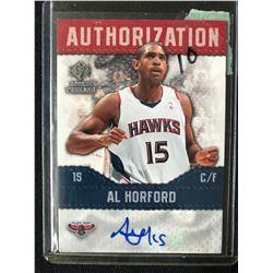 2008-09 SP Rookie Threads Authorization AU-AH Al Horford Atlanta Hawks Auto Card