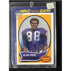 2004 TOPPS PURPLE PEOPLE EATERS ALAN PAGE  FOOTBALL CARD