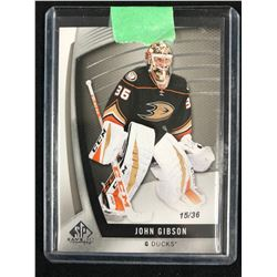 2017-18 SP Game Used - John Gibson Jersey #37 - Anaheim Ducks