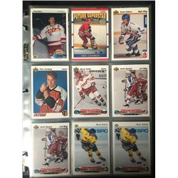 HOCKEY TRADING CARDS LOT (BURE/ LINDROS ROOKIES)