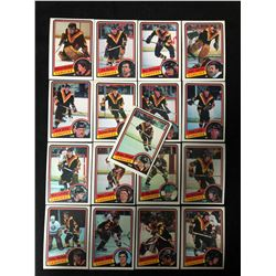 1984 O-PEE-CHEE VANCOUVER CANUCKS HOCKEY CARDS (COMPLETE SUB-SET)