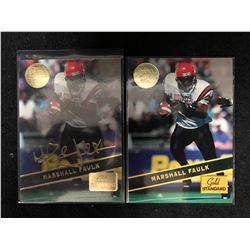 MARSHALL FAULK ROOKIE CARD LOT (MINT CONDITION)