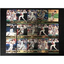 1997 Pinnacle Clout Baseball Card Lot