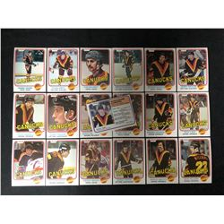 1981 O-PEE-CHEE VANCOUVER CANUCKS SUB-SET CARDS