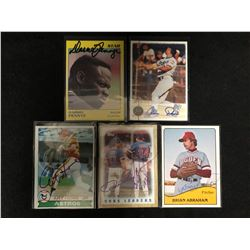 AUTOGRAPHED BASEBALL TRADING CARDS LOT