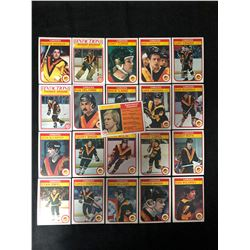 1982 O-PEE-CHEE VANCOUVER CANUCKS SUB-SET HOCKEY CARDS (COMPLETE SET)