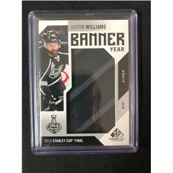 2016-17 UPPER DECK STANLEY CUP FINAL BANNER YEAR JUSTIN WILLIAMS HOCKEY CARD