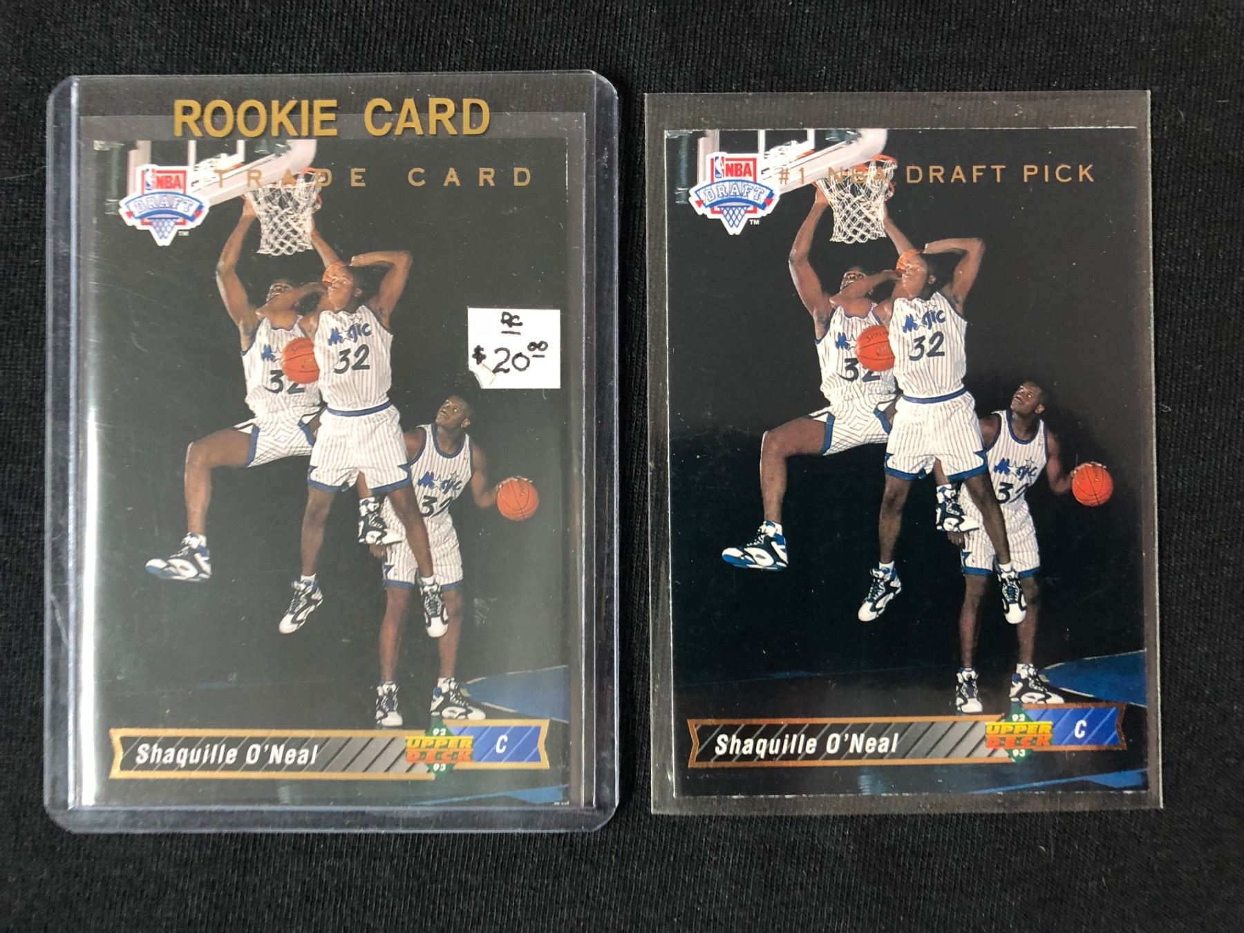 1992 93 Upper Deck Shaquille Oneal Rookie Card Lot