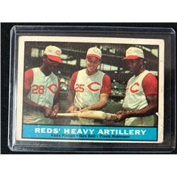 1961 Topps #25 Reds Heavy Artillery