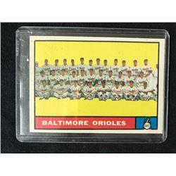 1961 Topps #159 Baltimore Orioles