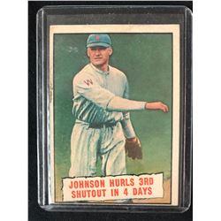 1961 #409 Baseball Thrills: Johnson Hurls 3rd Shutout in 4 Days (Walter Johnson)