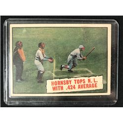 1961 #404 Baseball Thrills: Hornsby Tops NL With 424 Average (Rogers Hornsby)