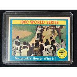 1960 TOPPS BASEBALL PIRATES BILL MAZEROSKI WORLD SERIES GAME 7 HOMER #312