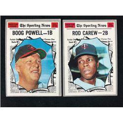 1970 Topps Set Break Baseball Card Lot (Carew/ Powell)