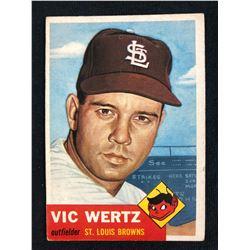 1953 TOPPS #142 VICTOR WERTZ