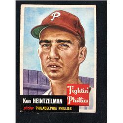 1953 TOPPS #136 KEN HEINTZELMAN