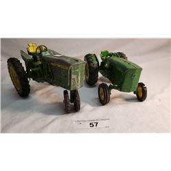 2 Diecast John Deere Tractor