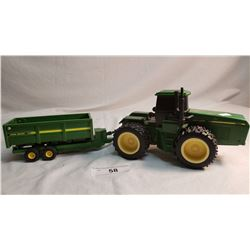 Heavy Plastic J.D Tractor And Wagon