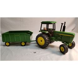 J.D. Diecast Tractor And Tin Wagon