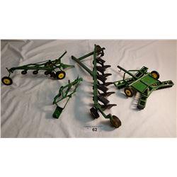 4 Misc. J.D. Diecast Farm implements