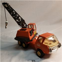 Tonka Crane Truck Tin