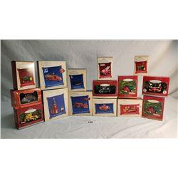 15 Boxed Hallmark Keepsake Automotive Christmas Ornaments