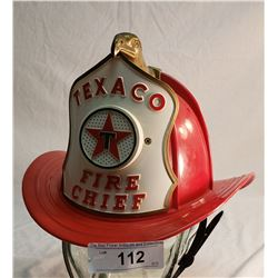 Vintage Texaco Fire Chief Hat With Siren
