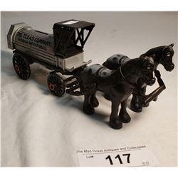Diecast Texas Company Petroleum Back Horse drawn