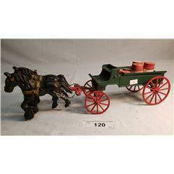 Repo Cast Iron Horse Drawn Farm Wagon