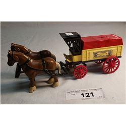 Repo Cast Iron Horse Drawn Farm Wagon Bank