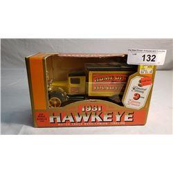 1931 Hawkeye Diecast Home Coin Bank