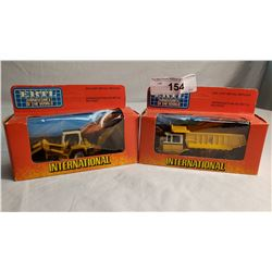 2 ERTL Diecast Toy Dumptruck And Back Hoe