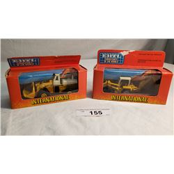 2 ERTL Diecast Toy Payloader And Back Hoe