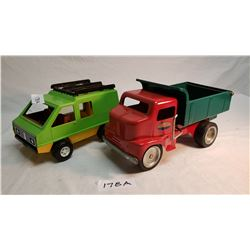 Repo Tonka Dump Truck And Fisher Price Van