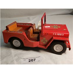 Tin Plate Jeep Made In Japan
