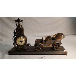 Car And Gas Pump Clock