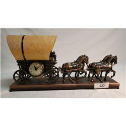 Chuck Wagon Clock And Lamp