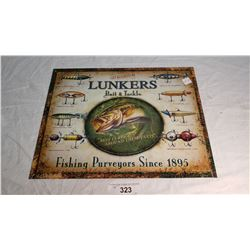 Repo Lunkers Tin Sign