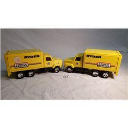 2 ERTL Ryder Rental Trucks