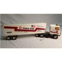 Tin Texaco Star Tractor Trailer