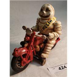 Cast Iron Repo Michelin Man On Motor Bike